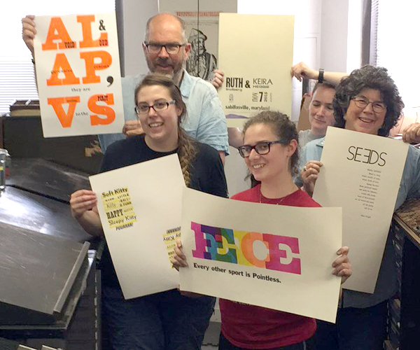 3-day Letterpress Workshop in Boston at the Massachusetts College of Art and Design, August, 2017