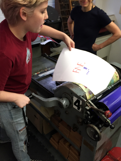 Six Word Memoir Letterpress Workshop in Boston at Mass Art, Fall 2016